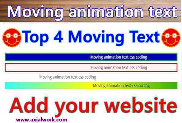 Moving animation text css coding free download in Hindi